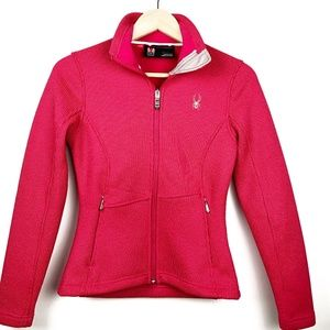 Spyder Core Sweater XS Pink Full Zip Jacket